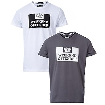 Men's Weekend Offender Siegel 2 Pack Prison T-Shirts in Grey