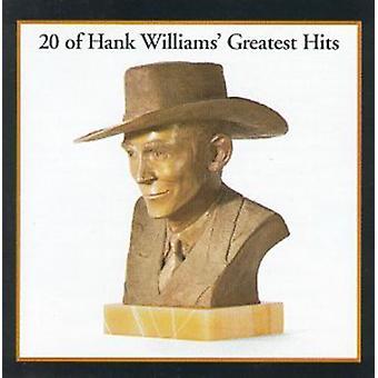 Hank Williams Sr. - 20 Greatest Hits [CD] USA import