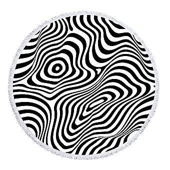 Zebra Illusion strand törölköző