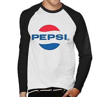 Pepsi 1960s logo mannen honkbal lange mouwen T-shirt