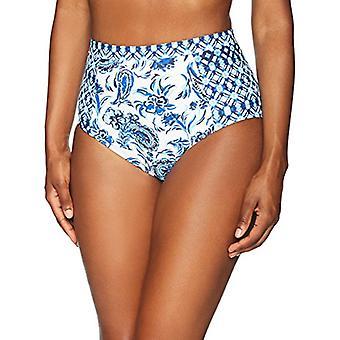 Merkki - Coastal Blue Naiset's Uimapuvut Korkea vyötärö Bikini Bottom, Uusi Na...
