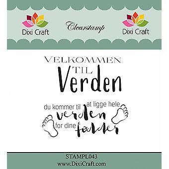 Dixi Craft Deense tekst duidelijke postzegels