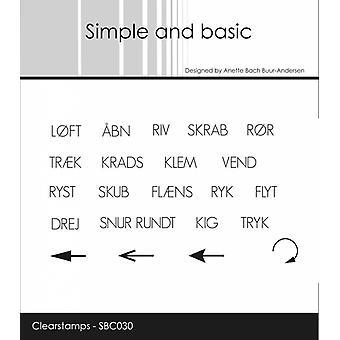 Enkel och grundläggande dansk text 6 Clear Frimärken