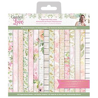 Crafter's Companion Garden of Love 6x6 Inch Paper Pad