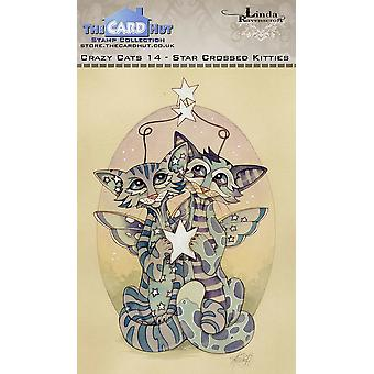 The Card Hut Crazy Cats Starcrossed Kitties Clear Stamps