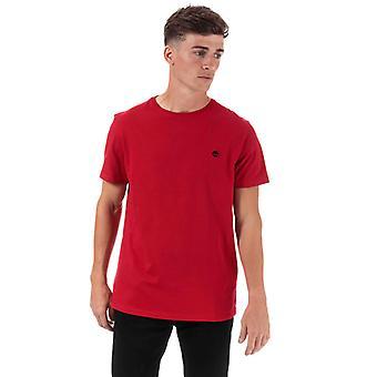 Men & apos; s Timberland TFO Logo Slim T-shirt i rött