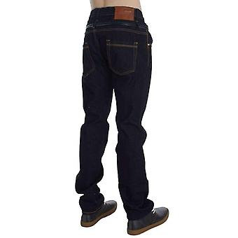 Blue Cotton Regular Straight Fit Jeans -- SIG3899781