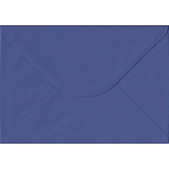 Iris blauw gegomd C5/A5 gekleurde blauwe enveloppen. 100gsm FSC duurzaam papier. 162 mm x 229 mm. bankier stijl envelop.