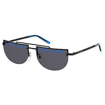 Sunglasses Women's Semiround Black/Blue