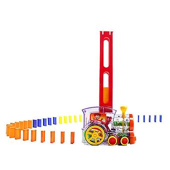 Automatic Colorful Plastic Dominoes Blocks Game Toys Set For Girls And Boys
