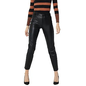 Only Women's Emily Highwaist Ankle Faux Leather Pants