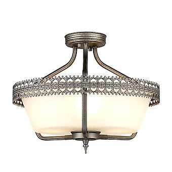 3 Light Semi Flush Plafond hanger Lichtijzer, E27