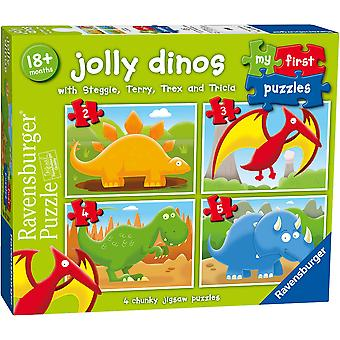 Ravensburger Jolly Dinos My First Jigsaw Puzzles (2,3,4,5pc)