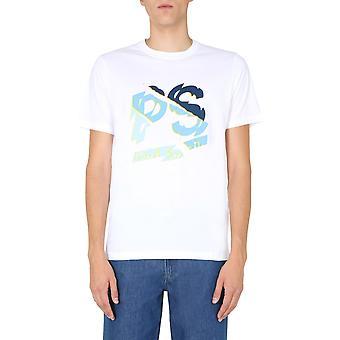 Ps Door Paul Smith M2r011rep235501 Men's White Cotton T-shirt