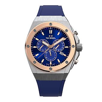 TW Steel TWCE4046 Ceo Tech Blue Dial Chronograph Polshorloge