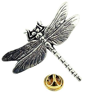 Ties Planet Dragonfly Anglais Pewter Lapel Pin Badge