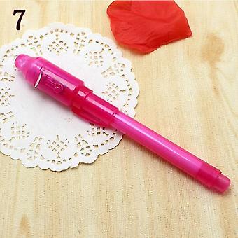 Uutuus Magic Highlighter Marker Pen, Luova Taika Uv Valo Näkymätön Muste kynä