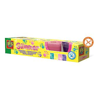 SES Creative Children Glimmer Washable Fingerpaint Set 4 Paint Pots Girls (314)