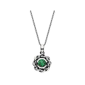 Heritage Mystic Birthstone May Emerald Necklace 9234MAY024