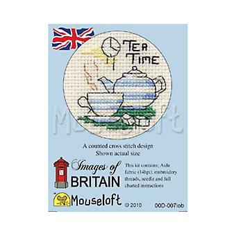 Tea Time Images of Britain Mini Counted Cross Stitch Kit