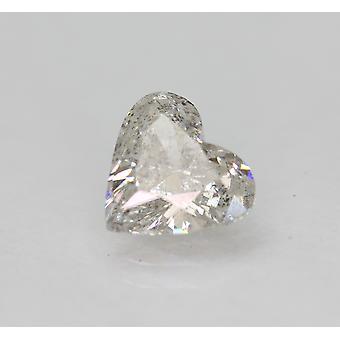 Certified 1.02 Carat G VS2 Heart Enhanced Natural Loose Diamond 7.28x6.71mm 2VG
