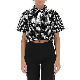 Amen Couture Acw20213520 Women's Black Acrylic T-shirt