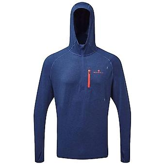 Ron Hill Midnight Mens Momentum Workout Hoodie