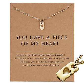 You have a piece of my heart - necklace 18K gold plated gift