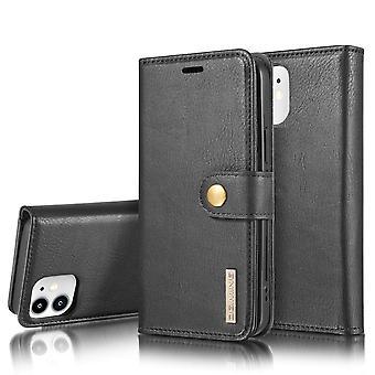 Dg. MING iPhone 12 Mini Split Leather Wallet Case - Black