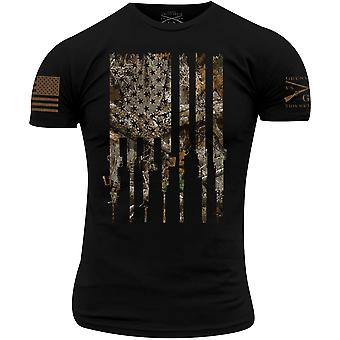 Grunt Style Realtree Edge Rifle Flag T-Shirt - Black