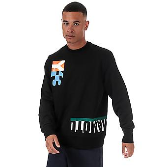 Y-3 men's multi cut graphic black sweatshirt