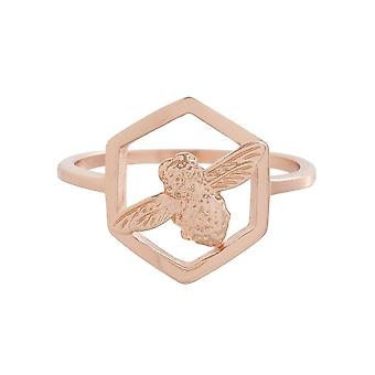 Olivia Burton Obj16amr06 Honeycomb Bee Ring Rose Gold
