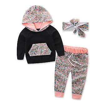 Juego de ropa para bebés incluye rompers, diadema y pantalones