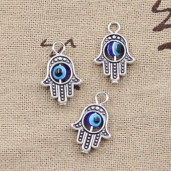 12pcs Charms Hamsa Hand Scrollable Devil Eye Pendants Making Diy Handmade