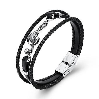 Unique Punk Stainless Steel Musical Notes Bracelets