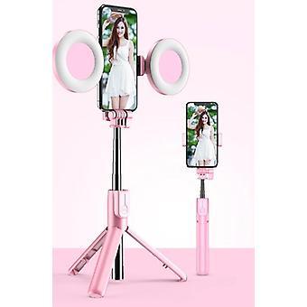 Bluetooth Selfie Stick Led Ring Light Extendable Handheld Live Tripod
