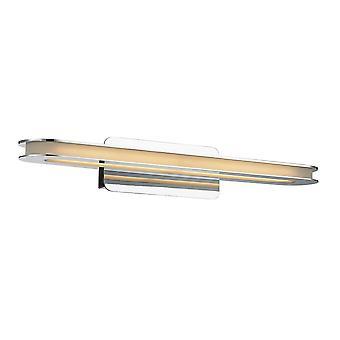 Moderne LED-wandlamp chroom, warm wit 3000K 560lm