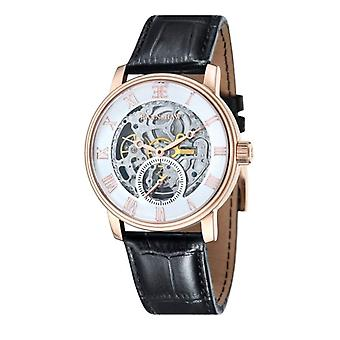 Thomas Earnshaw ES-8041-03 Westminster Classic Rose Gold & Black Leather Automatic Skeleton Watch