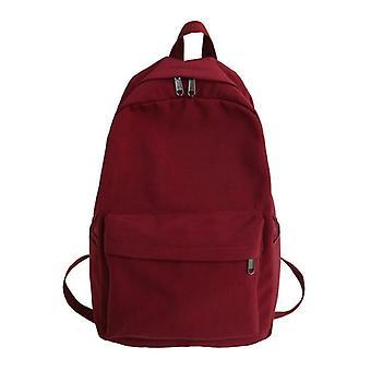 Shoulder Backpack, Solid Color For Teenage