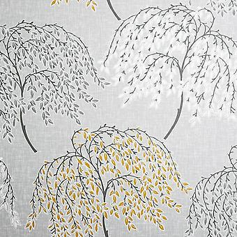 Oriental Tree Ochre & Grey Arthouse Wallpaper