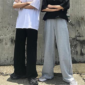Men Pants Full Length, Wide-leg, Streetwear Trousers, High Waist