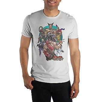 Character group tekken tshirt white mens gaming shirt and tekken apparel