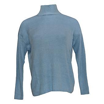 Laurie Felt Women's Sweater Cashmere Blend Mock-Neck Blue A346619