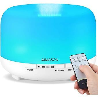 Essential Oil Diffuser, AIMASON 500ML BPA-Free Quiet Ultrasonic Air Humidifier