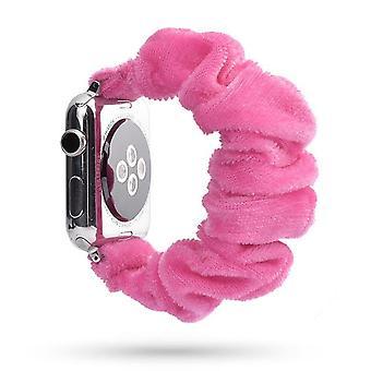Naisten scrunchie elastinen kellonauha omena iwatch nauhalle 38mm, 40mm, 42mm, 44mm
