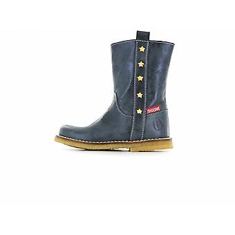 SHOESME Zipped Boot With Side Star Detail