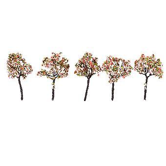 5pcs Model Flower Trees Architecture Model Trees for DIY Scenery Landscape House