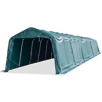 Pasture tent PVC 550 g/m2 3.3 x 16 m Dark green