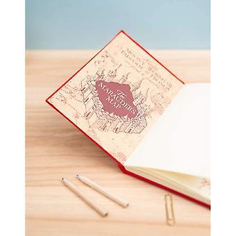 Harry Potter Marauders Map Sequin Flip A5 Notebook