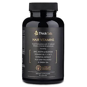 Thicktails Haarwachstum & Stärkung von Vitaminen | 90 Kapseln | ein Monat Versorgung